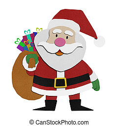 Santa claus recycled papercraft. - Santa claus recycled ...