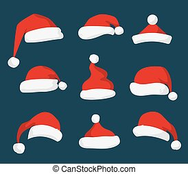 Santa Claus red hat vector isolated
