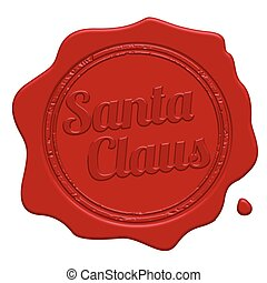 Santa Claus red wax seal