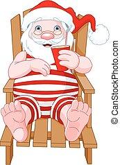 Santa Claus Relaxing