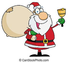 Santa Claus Ringing A Bell