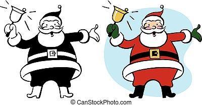 Santa Claus Rings Bell