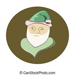 Santa Claus round icon