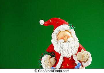 Santa Claus - Santa on green background