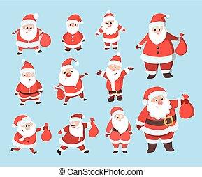Santa Claus set.