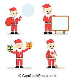 santa claus set illustration design