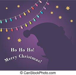 Santa Claus shade Christmas greeting card