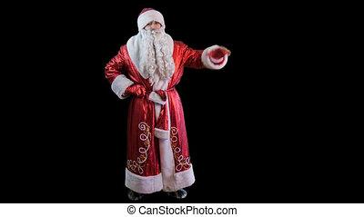 Santa Claus  shakes his hand