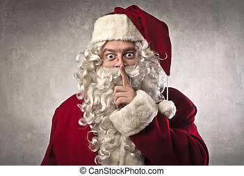 santa claus silent - Santa Claus makes a sign with his hand...
