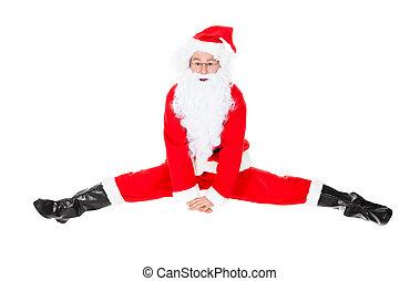 Santa Claus Sits On A Splits