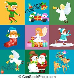 128a9e572346d Snowman with santa s hat with large gift bag and bird on his head ...