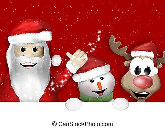 Santa Claus Snowman Reindeer