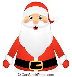 Santa Claus standing on a white background, vector...