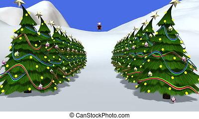 Santa Claus - santa claus and sled