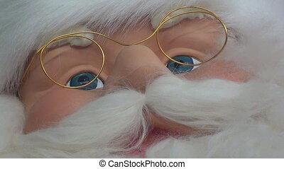 santa claus - close up santa claus with zoom out