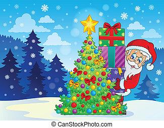 Santa Claus theme image 9 - eps10 vector illustration.