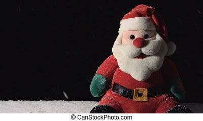 Santa Claus Toy with Falling Snow