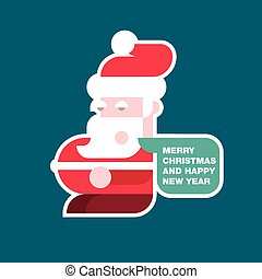 Santa Claus vector colorful illustration in flat design style