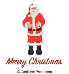 Santa Claus, vector illustration