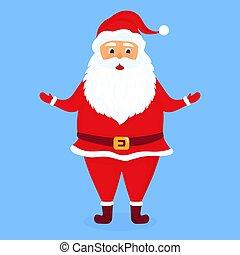 Santa Claus. Vector illustration for Christmas card.