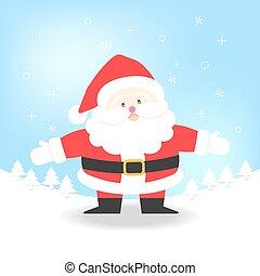 Santa Claus vector illustration for Christmas