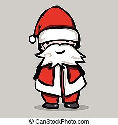 Santa claus, vector illustration.