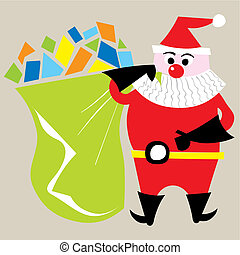 Santa Claus vector Xmas