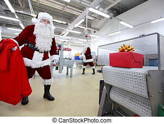santa claus waiting for present