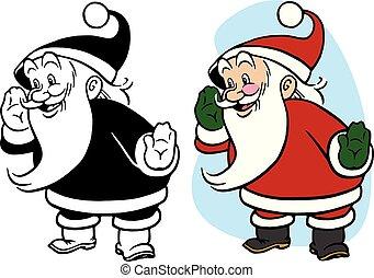 Santa Claus Whispering