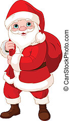 Santa Claus with a Bag