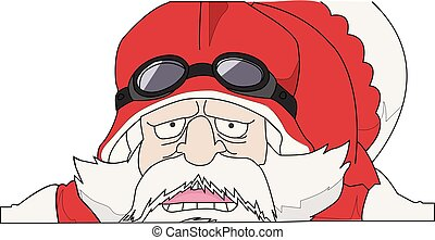 santa claus with a bag of christmas gifts