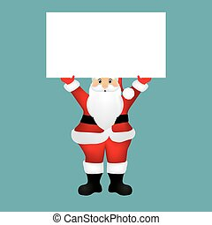Santa Claus with a banner