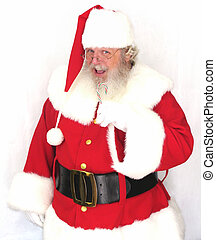 Santa Claus with a candy cane