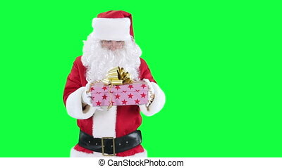 Santa Claus with a gift box