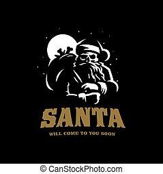 Santa Claus with a skull
