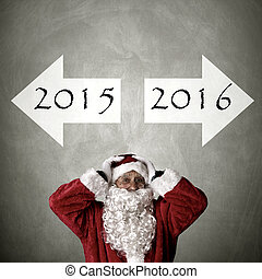 santa claus with addresses turn of the year