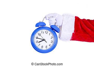 santa claus with alarm