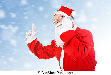 Santa Claus with Cellphone