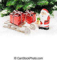 Santa Claus with Christmas gifts