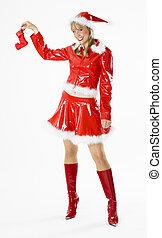 Santa Claus with Christmas stocking
