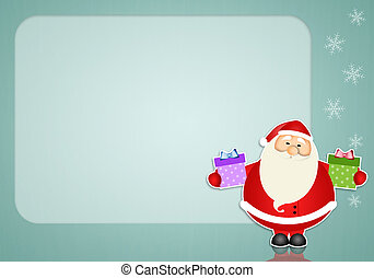 Santa Claus with gifts background