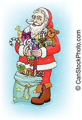 Santa Claus with gifts.eps