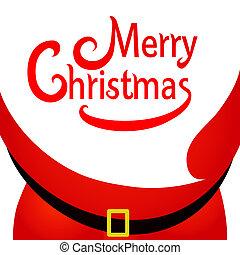Santa Claus with glass, Christmas postal