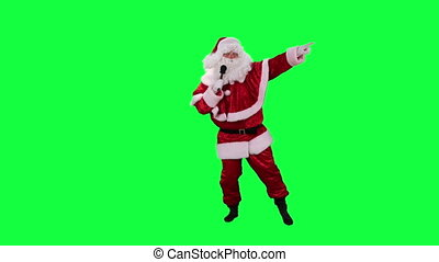 Santa Claus with microphone