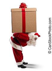 Santa Claus witha a big gift