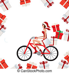 Santa claus woman - illustration