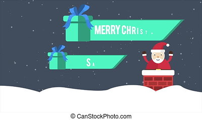 Santa Clause and gift footage. merry Christmas sale...
