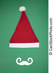 Santa Clause cap with Moustache