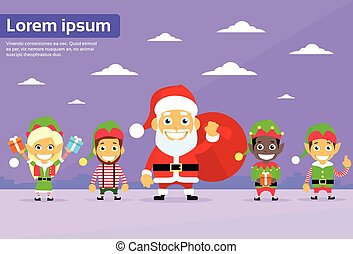 Santa Clause Christmas Elf Cartoon Character