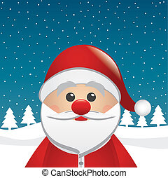 santa clause figure look from